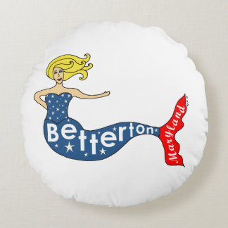 Betterton, Maryland Mermaid Round Pillow