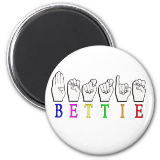 BETTIE ASL FINGERSPELLED NAME SIGN MAGNET