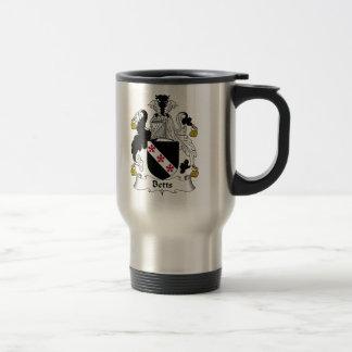 Betts Family Crest Travel Mug