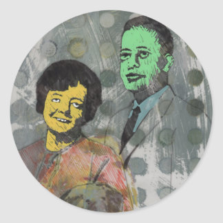 Betty & Barney Hill mini-stickers Classic Round Sticker