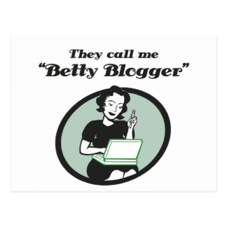 Betty Blogger Postcard