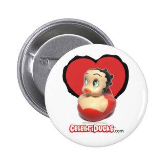 Betty Boop Rubber Duck Button