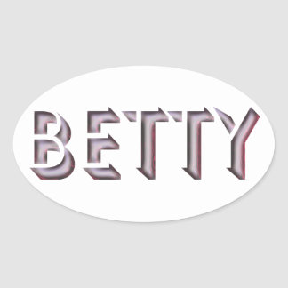 Betty sticker name