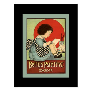 Bettys Painting Book Postcard