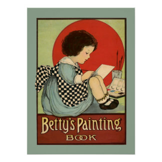 Bettys Painting Book Poster