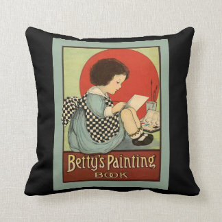 Bettys Painting Book Throw Pillow