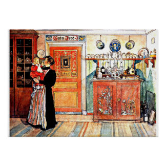 Between Christmas and New Aco, Carl Larsson art Poster