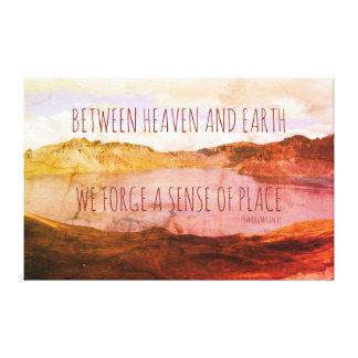 Between Heaven And Earth Aurora Borealis Canvas Print