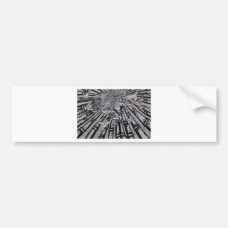 Between Real and Surreal by Carter L. Shepard Bumper Sticker