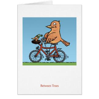 Between Trees Bird Card