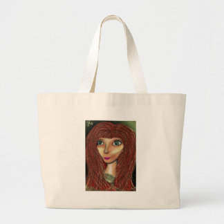 Bev in the Green Waters. Large Tote Bag