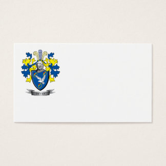 Bevan Family Crest Coat of Arms Business Card