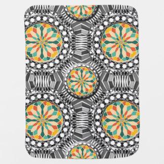 Beveled geometric pattern baby blanket