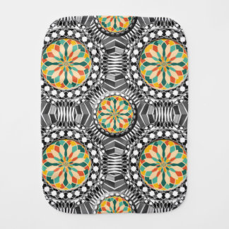 Beveled geometric pattern burp cloth