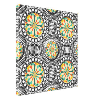 Beveled geometric pattern canvas print