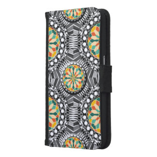 Beveled geometric pattern samsung galaxy s6 wallet case