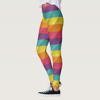 Beveled Texture Rainbow Leggings