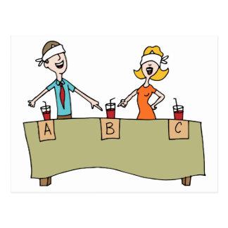 Beverage Blind Taste Test Postcard