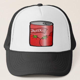 beverage can drink juice tomato trucker hat