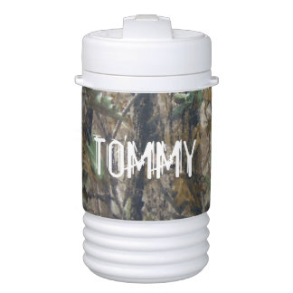 Beverage Igloo - Hunting Camouflage Name Drinks Cooler