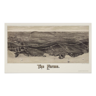 Beverly Farms, MA Panoramic Map - 1886 Poster