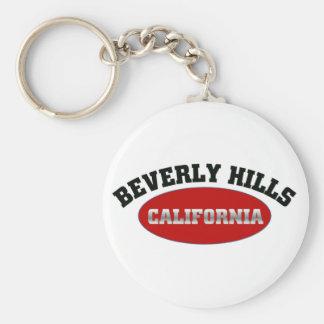 Beverly Hills, California Basic Round Button Keychain