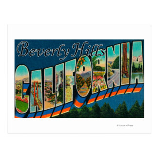 Beverly Hills, California - Large Letter Scenes Postcard