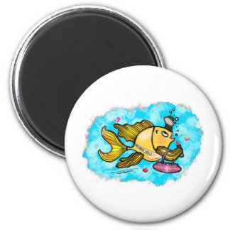 Beverly Hills Housewife Fish cute funny comics 2 Inch Round Magnet