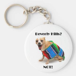 Beverly Hills? NOT! Basic Round Button Keychain