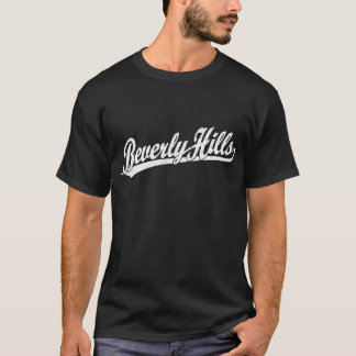 Beverly Hills script logo in white T-Shirt