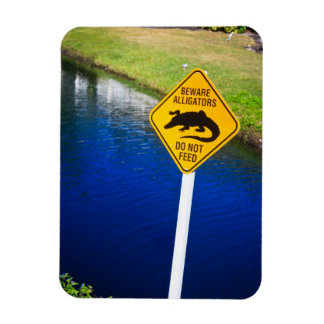 Beware Alligators Do Not Feed Magnet