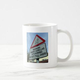 beware: angry gorillas! mug