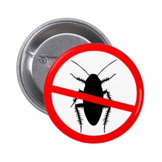 Beware Cockroaches 2 Inch Round Button