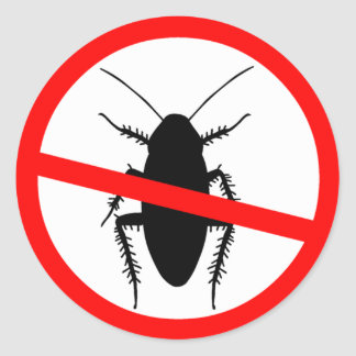 Beware Cockroaches Classic Round Sticker