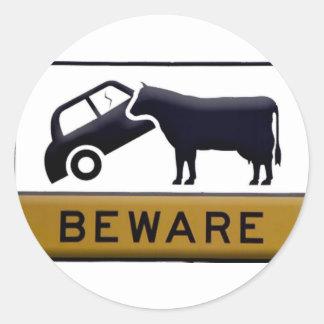 Beware - Cow Car Stickers