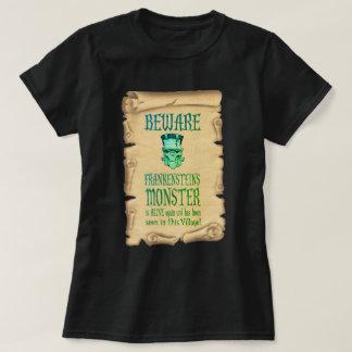 Beware Frankensteins Monster Vintage Poster T-Shirt