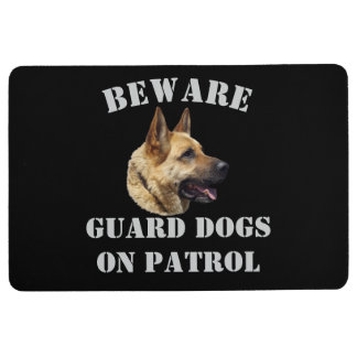Beware guard dogs on patrol floor mat