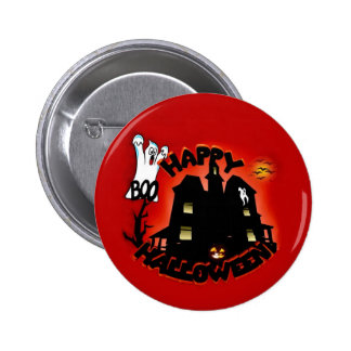 Beware! Haunted House - Enter at Your Own Risk! 2 Inch Round Button