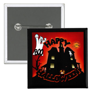 Beware! Haunted House - Enter at Your Own Risk! 2 Inch Square Button