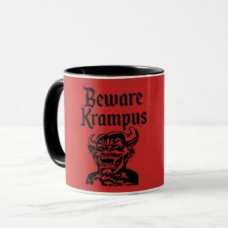 BEWARE KRAMPUS MUG