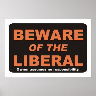 Beware / Liberal Poster