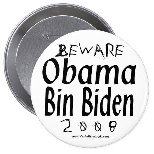 Beware Obama Bin Biden Buttons