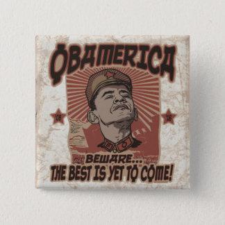 Beware Obama's Obamerica 2 Inch Square Button
