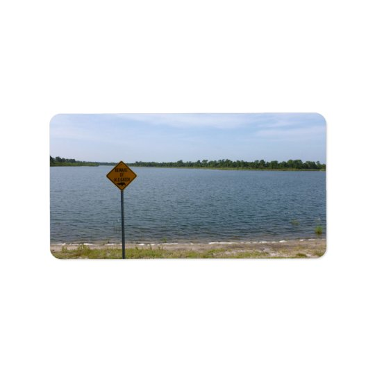 Beware of Alligator Sign by pond