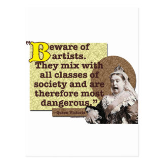 Beware of Artists I Postcard