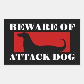 Beware of Attack Dog - Afghan Hound Sticker