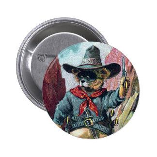 Beware of Bandit Bear with Bandana 2 Inch Round Button