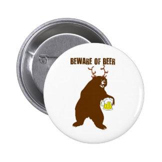 BEWARE OF BEER... DEER-BEER PRINT BUTTONS