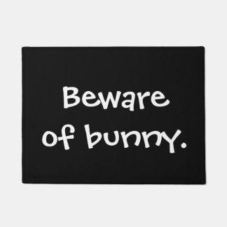 Beware of bunny doormat