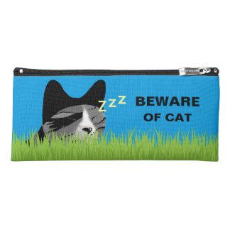 Beware of Cat - Sleeping Cat Pencil Case